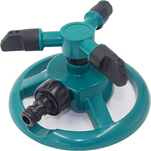 Limiwulw Garten Sprinkler Automatische 360 Grad Rotierende Rasen Wasser Sprinkler 3-Arm Sprenger für Bewässerungsanlagen Garten Versorgungsmaterialien