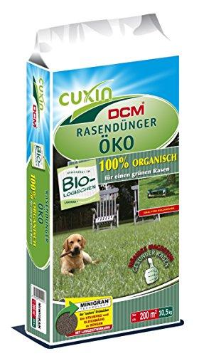 20 kg CUXIN DCM Rasendünger Öko 100 Dünger organisch Frühjahr Sommer biologisch