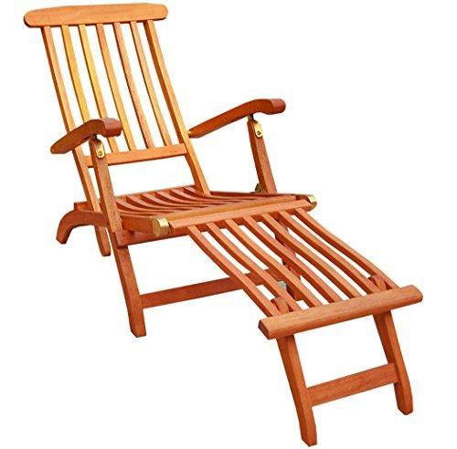 KMH Deckchair aus Eukalyptusholz ohne Auflage