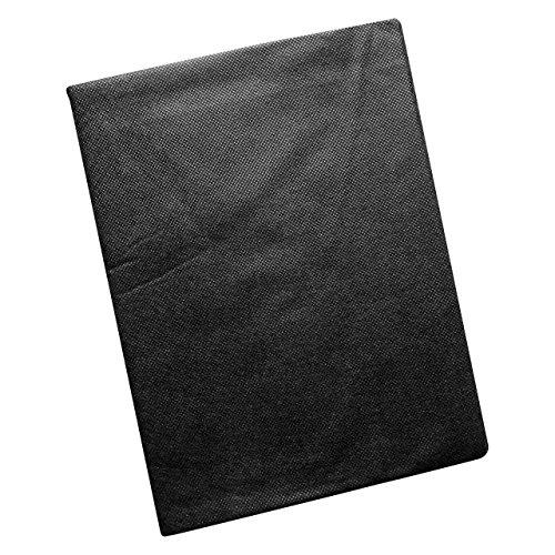 Quantio WENKO Unkrautvlies Vliesabschnitt Gefaltet ca 36 m² Atmungsaktives wasserdurchlässiges Vlies Polyester Schwarz