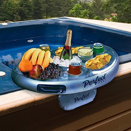 Offizielle Perfect Pools Spa Bar Aufblasbare Whirlpool Tisch für Getränke und Snacks - Perfekt für Pool Parties