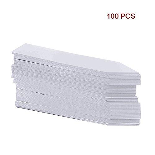 100Stk Mini Plastik Pflanzenstecker Stecketiketten Beschriften Pflanzschilder Schilder 10CM  2CM Sind Praktisch für AlleGärtner Weiß