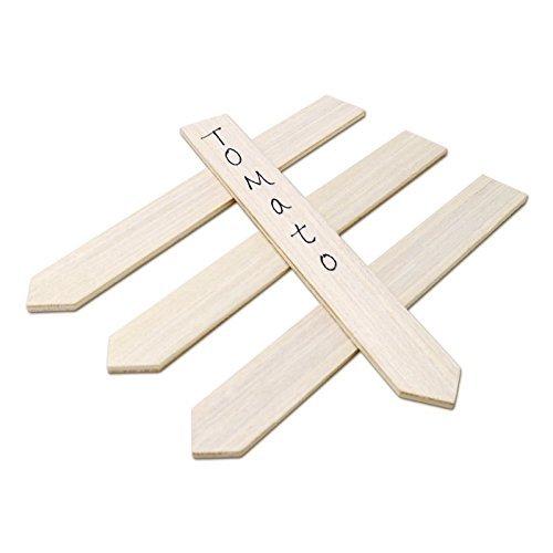KINGLAKE 50 Stk Pflanzenschilder Holz Pflanzenstecker zum Beschriften 15 CM Stecketiketten Holz für Pflanzen Etiketten Garten Holz