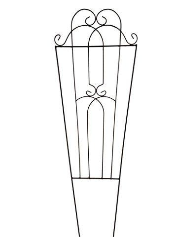 2er Set Rankspalier 120 x 41 cm schwarz Rankhilfe - Rankgitter - Spalier - Rankstütze