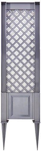 KHW RankgitterSpalier 43 cm mit Erdspießen grau 43x6x137 cm 37802