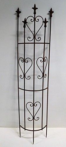 Rankgitter Rankhilfe halbrund Dachrinne Spalier Metall H 135 cm braun 130367RV