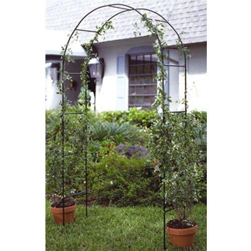 0107 Garten Rosenbogen aus Metall in grün 240 x 140 cm Rankhilfe • Torbogen Ranksäule Rankgitter Spaliere Gartenelement