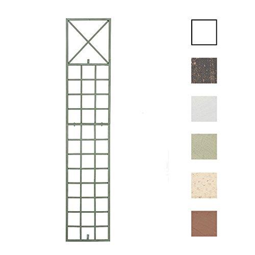 CLP Metall-Rankgitter Trigo zur Wandbefestigung I Rankhilfe für die Wand I Rankzaun aus lackiertem Metall I In Verschiedenen Farben erhältlich Antik Grün