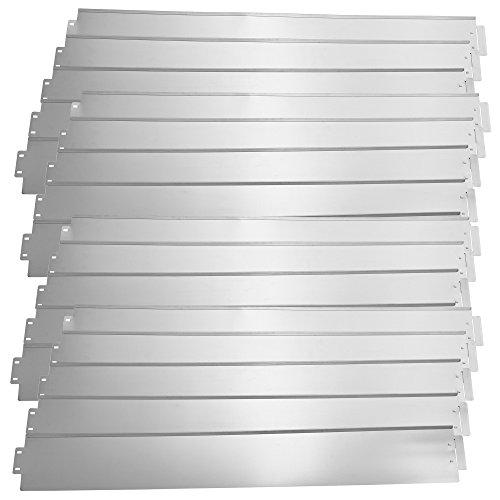 casapro Rasenkante Metall - 20 x 100cm - verzinkt Beetumrandung Beeteinfassung Mähkante 20m