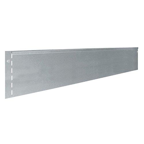 Bellissa 10 St Rasenkante Rasenkanten Metall verzinkt 118x13 cm Gesamtabmessung 115 m