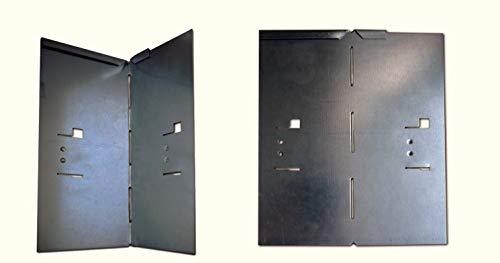 HN Kernstützen Metallwaren Ecke für Rasenkante Metall 8 x 8 x 185 cm 2er und 4er Set Beeteinfassung Wegbegrenzung in feuerverzinkt grün braun grau Farbe verzinkt Set4er Set