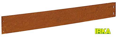 IRKA Rasenkante Corten Stahl schmal 14 cm Mähkante Beeteinfassung Metall 1mm stark