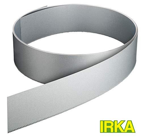 IRKA Rasenkantenband AluZink 25 cm hoch Metall Mähkante Beeteinfassung Rasenkante Beetumrandung Palisade 10 Meter