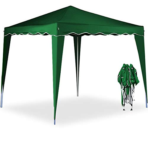 Deuba Pavillon Capri 3x3m  wasserdicht  Pop-Up  inkl Tasche  UV-Schutz 50  Faltpavillon Gartenzelt Partyzelt  grün  Farbauswahl