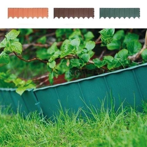 Beetumrandung Rasenkanten Zaun 580 m Beeteinfassung Beetabgrenzung 3 Farben Terrakotta von rg-vertrieb