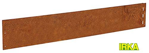 IRKA 10x Rasenkanten Corten Stahl schmal 18 cm Mähkante Beeteinfassung Metall 1 mm