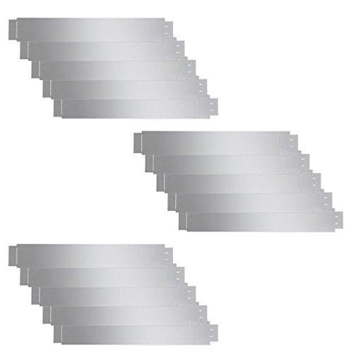 vidaXL 15x Rasenkante Metall 15cm verzinkt Beetumrandung Einfassung Mähkante 15m