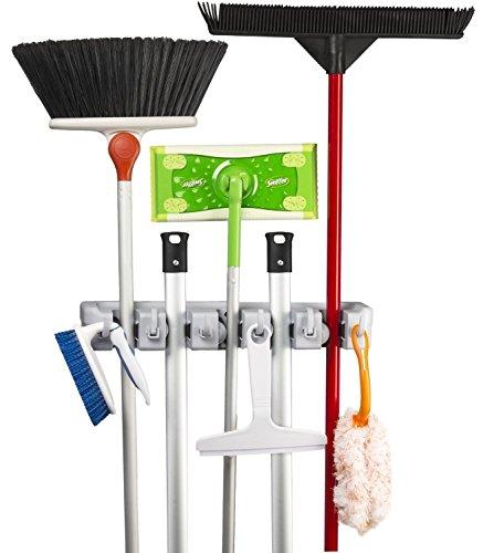 KINGTOP Besenhalter Mop Halter Universal Gerätehalter Wandhalterung Garage für Besen Mopp und Gartenwerkzeuge