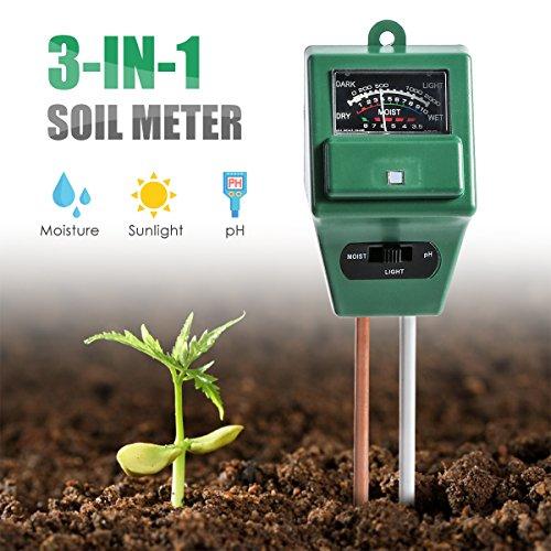 Digital pH Soil Tester-in PH Feuchtigkeit Sonnenlicht Sensor Sonde Meter PH Bodentest Kits Test Funktion für Haus und Garten Pflanzen Bauernhof Innen-Außeneinsatz -in Boden PH-Messgerät