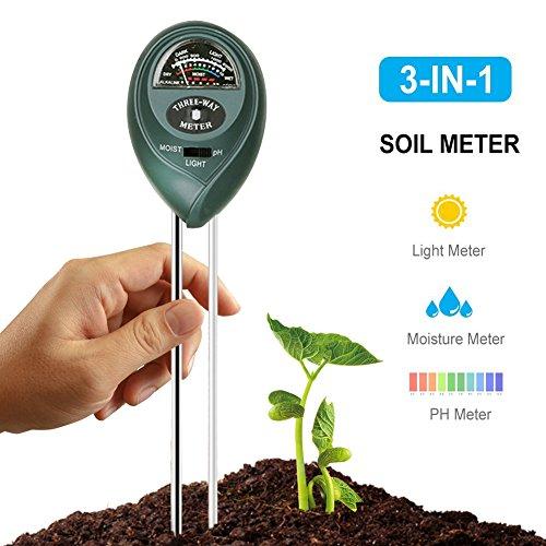 FAVOLOOK Erde Tester Feuchtigkeit Meter Wasser pflanzenbodengrund PH Meter Boden Tester Kit Licht und pH Säure Tester für Garten Bauernhof Rasen Indoor Outdoor kein Akku erforderlich