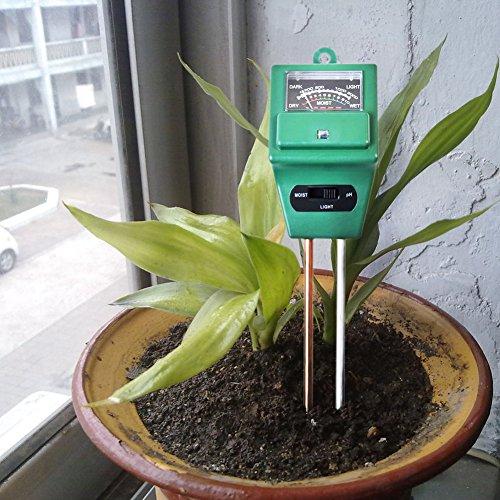 Fugui-in Erde Tester Feuchtigkeit Meter pH-Säure und Licht Tester pflanzenbodengrund Tester Kit ideal für Garten Bauernhof Rasen Indoor Outdoor kein Akku erforderlich