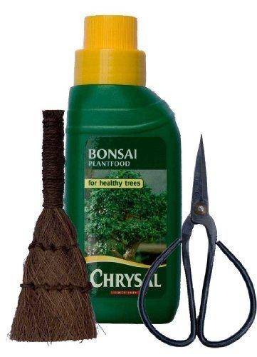 Bonsai-Baum-Pflege-Set 3-teilig Flüssignahrung Schere und Pinsel