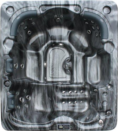 Vasa-Fit Whirlpool W215 Whirlpool aus hochwertigem Sanitäracryl für 5-6 Personen in SkyBlack