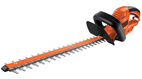 BlackDecker Elektro-Heckenscheren-Kit 500W 55 cm Messerlänge 22 mm Schnittlänge komfortabler Bügelhandgriff inkl 10 m Verlängerungskabel und Messerschutz GT5055CAKIT schwarz orange