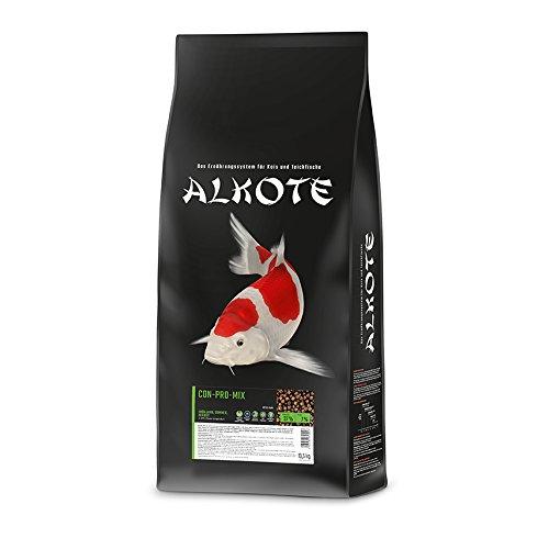 AL-KO-TE 3-Jahreszeitenfutter für kleine Kois Frühjahr bis Herbst Schwimmende Pellets 6 mm Hauptfutter Conpro Mix 135 kg
