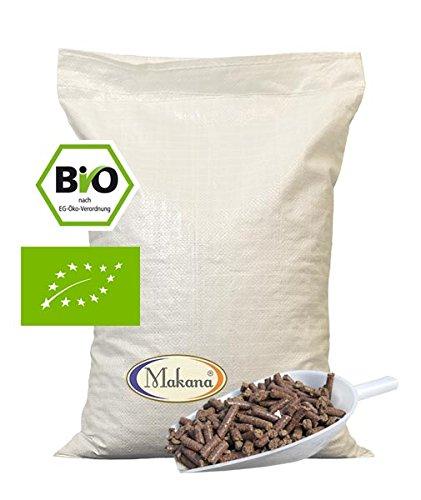 Makana Bio Leinkuchen Pellets grobes Granulat für Tiere 1er Pack 1 x 10 kg