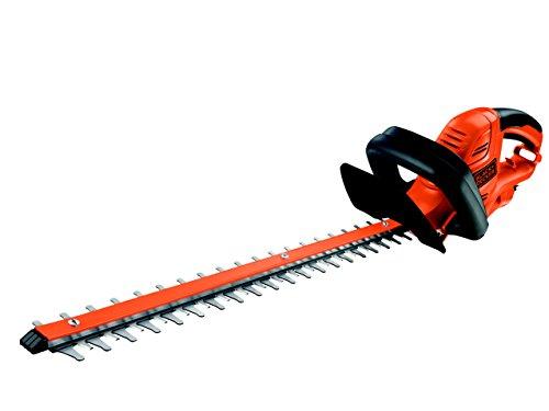 BlackDecker Elektro-Heckenschere 600W 60 cm Schwertlänge 25 mm Schnittstärke angewinkelte Messergeometrie für sehr große Hecken GT6060