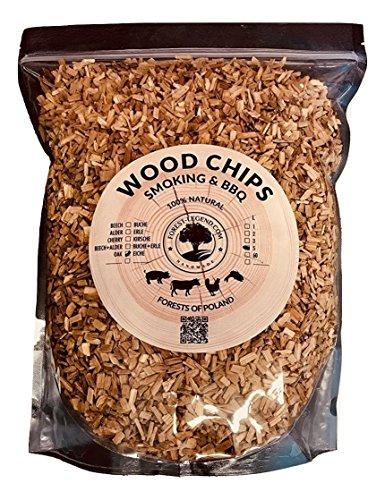 Forest Legend 5 Liter Holz Räucherchips für Grill und Smoker-Grill 100  naturbelassen aus Polnischen Wäldern Kirsche