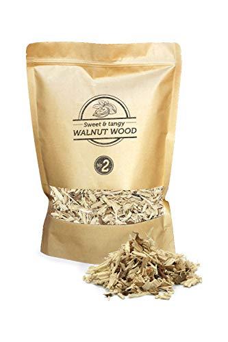 Smokey Olive Wood 17L Räucherchips aus Walnüssen-Holz Räucherspäne Körnung Nº2 5mm-1cm