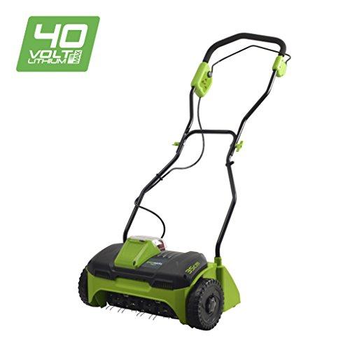 Greenworks G40DT30 40V Vertikutierer ohne Akku und Ladegerät -2504807 40 V Green