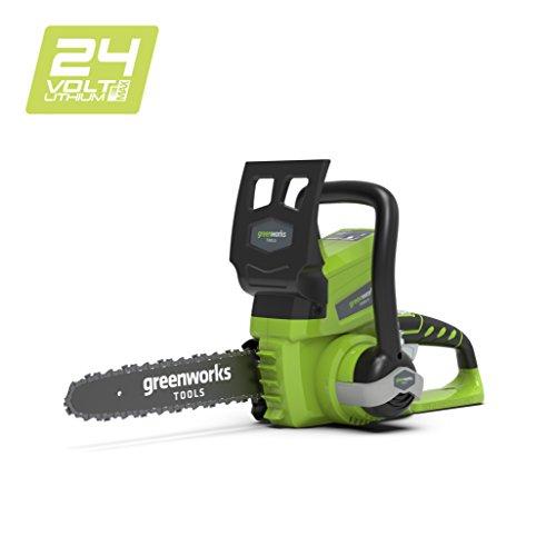 Greenworks Tools 24V Akku-Kettensäge 25cm ohne Akku und Ladegerät - 2000007