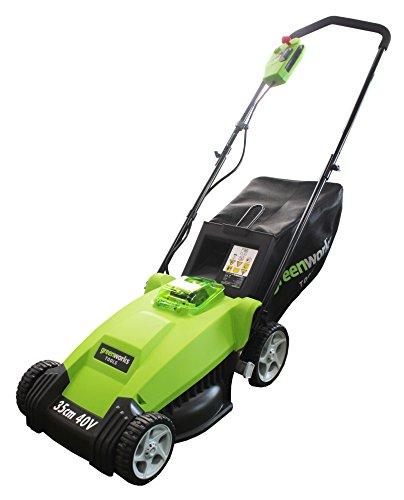 Greenworks Tools 2500067VA 40V 35cm Akku-Rasenmäher inklusive 2 Ah Akku und Ladegerät