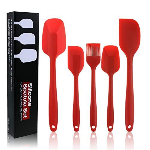 Philonext Silikon SpachtelSilikon Küchenutensilien Werkzeug Silikon Küchenhelfer Set BPA-freier hitzebeständiger Antihaft-Kleiner Chef-Plastiksilikon-Gummi-Schaber-Spachtel 5 Pcs
