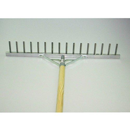 BG Bau- und Gartengeräte HgmbH Polar Aluminium-Rechen Rasenrechen Bauern-Harke 60 cm 16 Zinken mit 150 cm Stiel