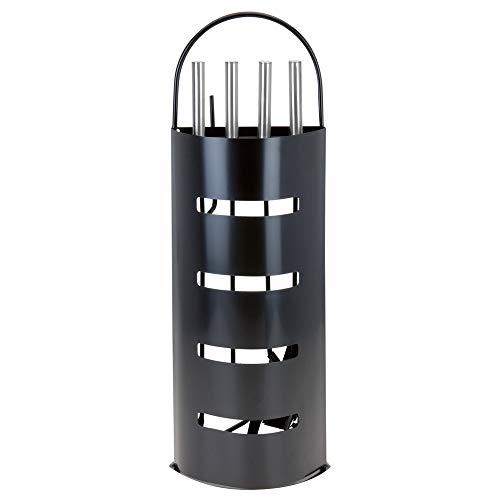 Kaminbesteck Kamin Besteck 5-teilig Schwarz oder Silber FarbeSchwarz