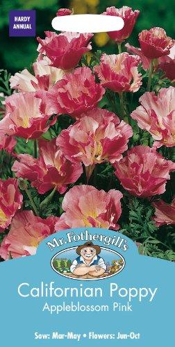 Mr Fothergills Pilzsporen Blume Kalifornischer Mohn Appleblossom Pink 200 Samen