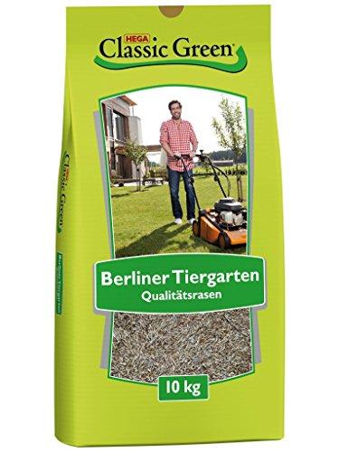 CLASSIC GREEN Rasensamen Berliner Tiergarten Rasensaat 10kg  Grassamen  Rasensamen 10kg  Premium Rasensaat  Rasensaat Berliner Tiergarten  Rasensaatgut  Rasensaat elegant