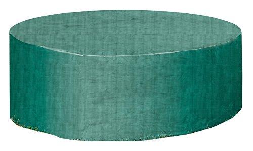 Royal Gardineer Gartentisch Abdeckung Gewebe-Abdeckplane für Gartentisch Sonneninsel 250 x 90 cm Ø x H Plane für Sonneninsel