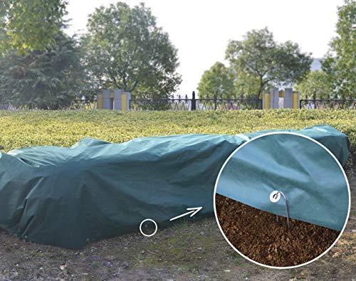 UniEco Winterschutz für Pflanzen Abdeckplane Gewebeplane 2x6m 50gm2
