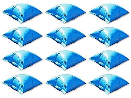 well2wellness 12 x Pool Luftkissen Winterkissen PE Deluxe mit Sicherheitsventil für Pool Abdeckplanen