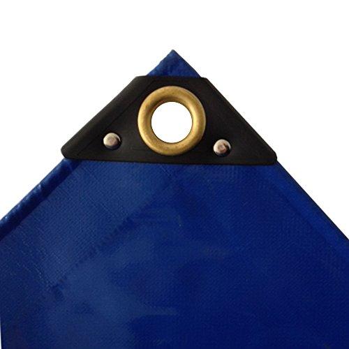650 gm² blaue PVC Abdeckplane 5 x 8m 40m² LKW Plane Industrie Gewebeplane ÖsenUV stabil reissfest wasserdicht Plane Schutzplane