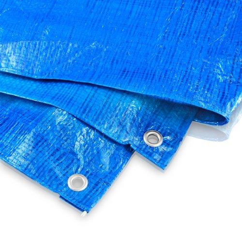 Bradas PL48 Abdeckplane 4 x 8 m 60 g blau 40 x 40 x 20 cm