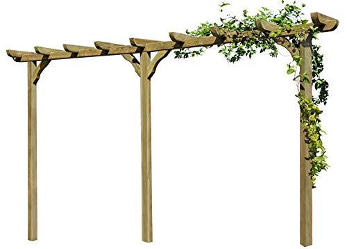 Gartenpirat Pergola aus Holz Torbogen Rankhilfe Länge ca 450 cm mit Pfosten 9x9cm