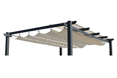 OUTFLEXX Ersatzdach für LECO Pergola Garten-Pergola in Creme Pavillon aus Polyester Textil universal und wasserabweisend ca 400 x 300 cm