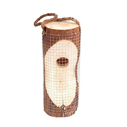 Gardigo Vogelfuttersäule  Vogelhaus für den Garten - Aus FSC Holz  Futterspender zum Aufhängen 20 cm Höhe  Deutscher Hersteller
