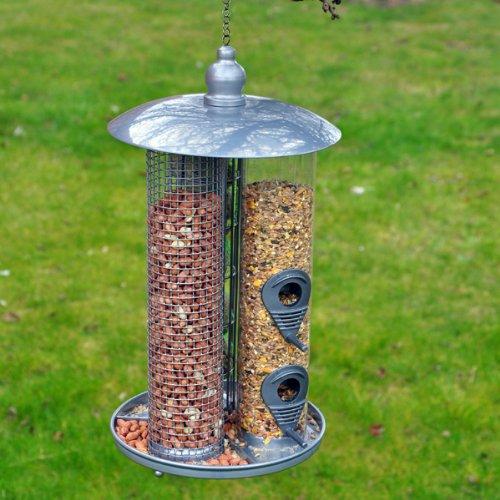 Kingfisher Deluxe 3-in-1 Futterspender für Meisenknödel und Nüsse